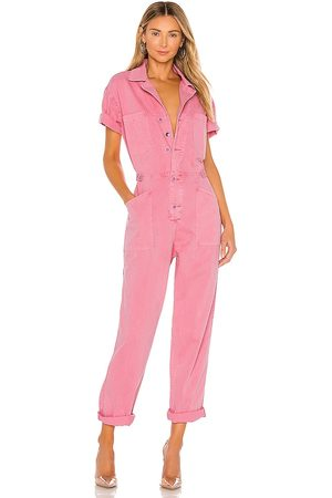 Pistola Grover Jumpsuit in - Pink. Size L (also in M).