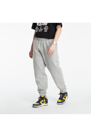 Nike Homem Calças - Lab Fleece Pants Dk Grey Heather/ White