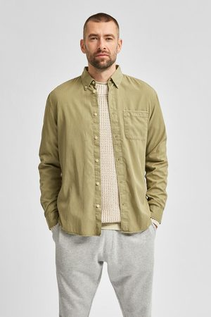 Selected Camisa bolso tencel