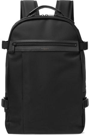 Saint Laurent Homem Mochilas - City Trekking Leather-Trimmed Shell Backpack