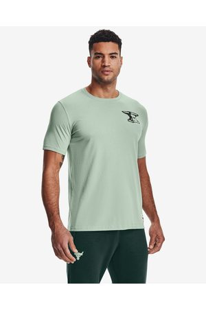 Under Armour Project Rock Wreckling Crew T-shirt Green
