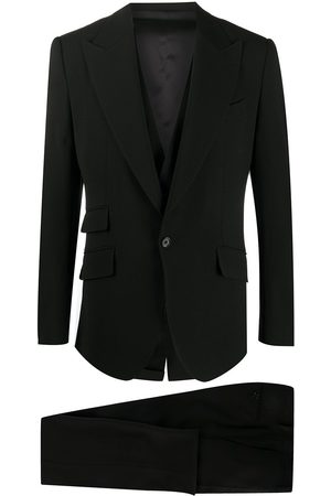 Dolce & Gabbana Homem Calças - Single-breasted three-piece trouser suit