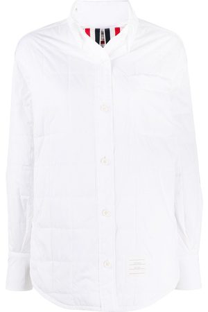 Thom Browne Oversized quilted shirt jacket