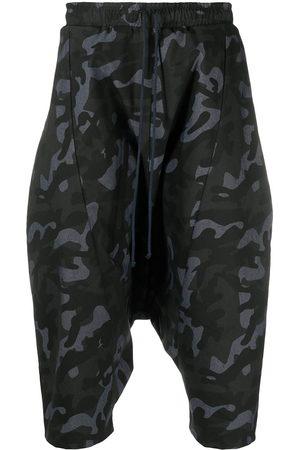 Alchemy Camouflage drop-crotch shorts