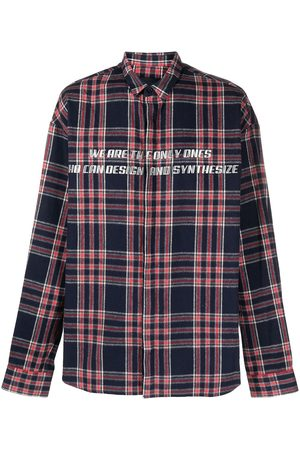 Juun.J Formal - Check print button-up shirt