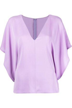 Valentino Senhora Blusas - Georgette V-neck blouse