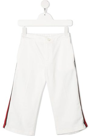 Gucci Kids Web-detail straight-leg trousers