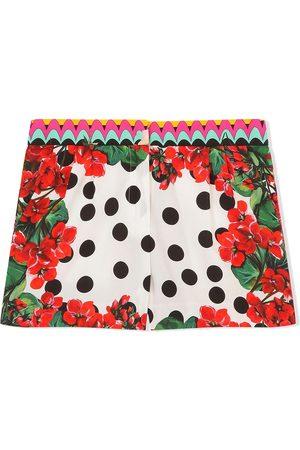 Dolce & Gabbana Kids Mixed floral-print shorts