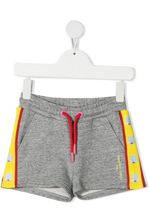 The Marc Jacobs Kids Mascot motif print track shorts