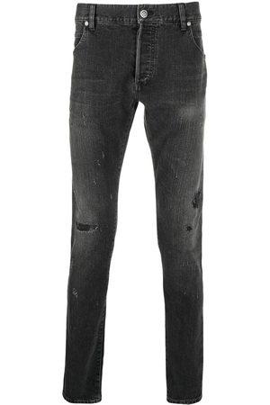 Balmain Homem Retos - Distressed-finish denim jeans