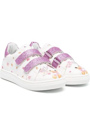 Monnalisa Menina Ténis - Graphic print touch-strap sneakers