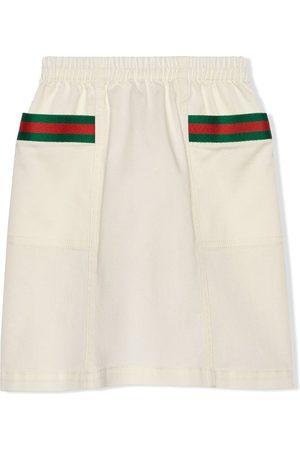 Gucci Kids Web-detail skirt