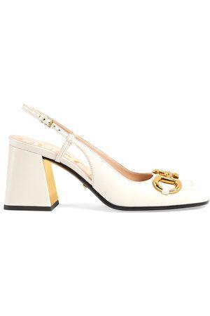 Gucci Senhora Plataformas - Horsebit mid-heel slingback pumps