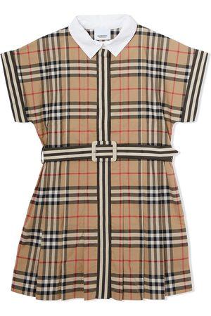 Burberry Kids Menina Vestidos Casual - Check-print short-sleeve dress