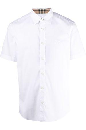 Burberry Homem Formal - Embroidered TB monogram shirt