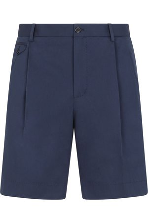 Dolce & Gabbana Embroidered logo pleated Bermuda shorts