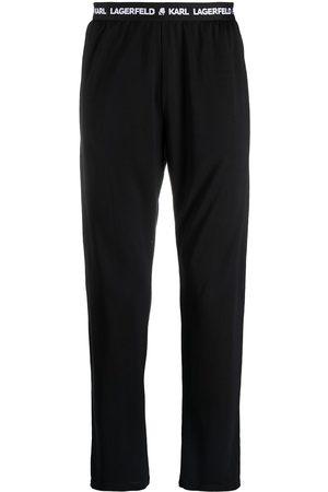 Karl Lagerfeld Homem Calças - Logo-waistband pyjama pants