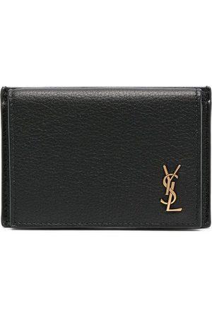 Saint Laurent Logo-plaque foldover wallet