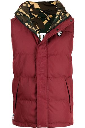 AAPE BY *A BATHING APE® Embroidered logo padded gilet