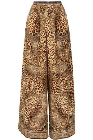 Camilla Lady Lodge silk palazzo trousers