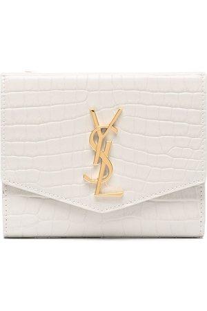 Saint Laurent Senhora Bolsas & Carteiras - Monogram-plaque foldover purse