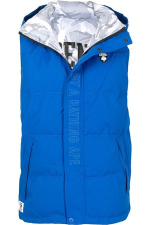 AAPE BY *A BATHING APE® Homem Coletes - Embroidered logo padded gilet