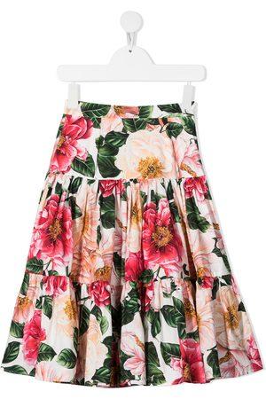 Dolce & Gabbana Kids Floral print tiered skirt