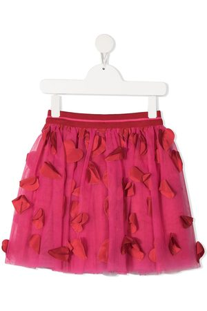 Simonetta Heart appliqué tulle skirt