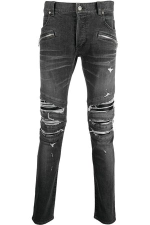 Balmain Ripped-detailing slim-fit jeans