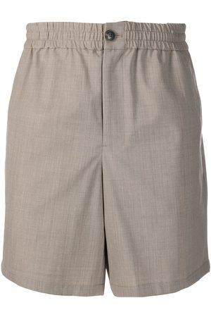AMI Paris Homem Bermudas - Elasticated-waist Bermuda shorts