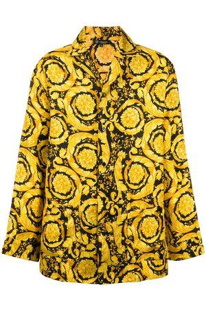 Versace Barocco-print pyjama shirt