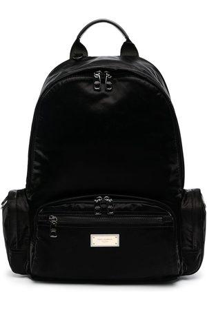 Dolce & Gabbana Homem Mochilas - Logo-plaque backpack
