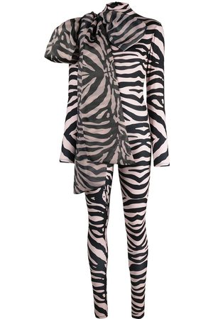 Atu Body Couture Senhora Bodies - Zebra print stretch bodysuit