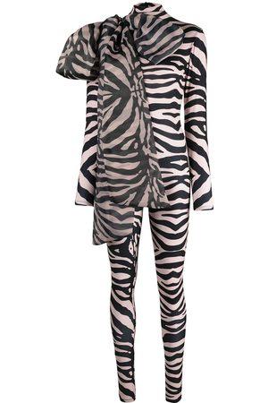 Atu Body Couture Senhora Bodies - Zebra print stretch bodysuit