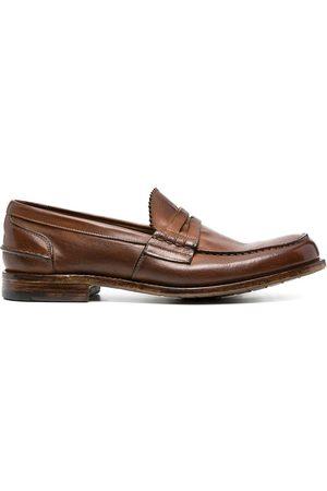 Premiata Homem Oxford & Moccassins - Crossover-strap leather loafers