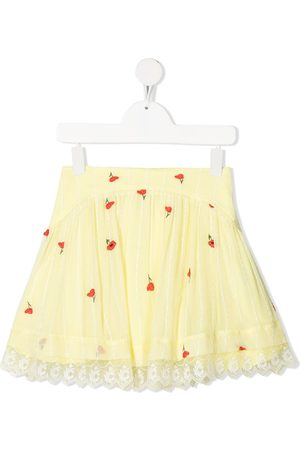 Chloé Poppy print silk skirt