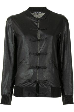 Lisa von Tang Senhora Casacos de Pele - Button-detail jacket