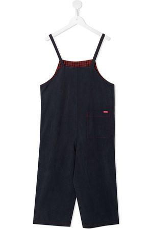 Familiar Straight-leg contrast-stitch jumpsuit