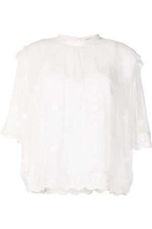 IRO Senhora Blusas - Lace-layered blouse