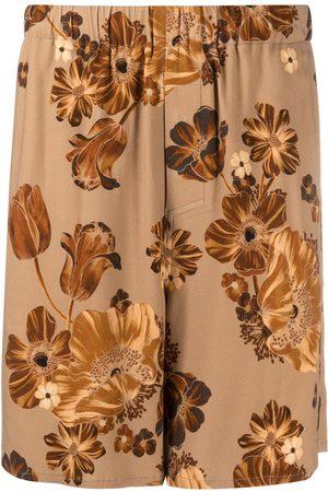 Ami Floral-print Bermuda trousers