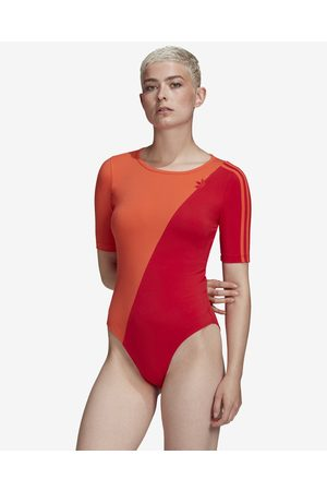 adidas Adicolor Sliced Trefoil Body Red Orange