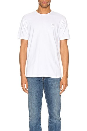 ALLSAINTS Brace Tonic Crew Tee in - White. Size L (also in M, S, XL).