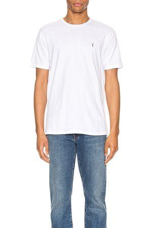 AllSaints Brace Tonic Crew Tee in - White. Size XL (also in XS).