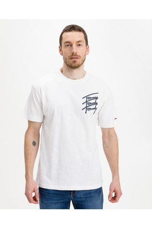Tommy Jeans Homem T-shirts & Manga Curta - Repeat Script T-shirt White
