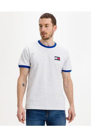 Tommy Jeans Badge Ringer T-shirt Grey