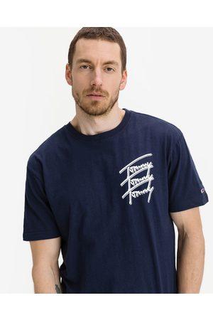 Tommy Jeans Homem T-shirts & Manga Curta - Repeat Script T-shirt Blue
