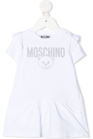 Moschino Kids Teddy bear-print short-sleeved dress
