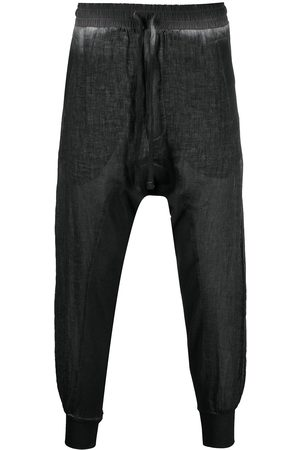 Thom Krom Distressed-finish tapered trousers