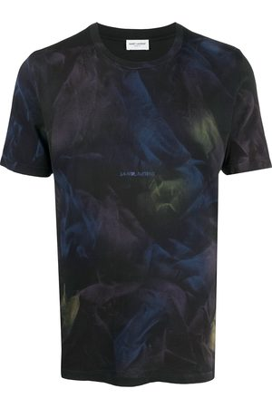 Saint Laurent Homem T-shirts & Manga Curta - Abstract print T-shirt