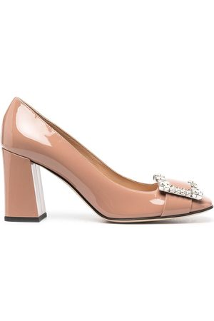 Sergio Rossi Embellished patent pumps